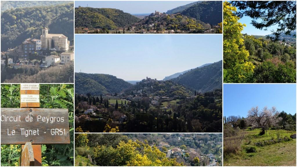 Les environs du village d'Auribeau sur Siagne